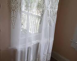 embroidered curtain etsy