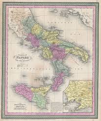 Naples Italy Map File 1853 Mitchell Map Of Southern Italy Naples Sicily