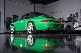 green porsche 911 1997 porsche 911 993 carrera cabriolet u2013 1 of 1 in signal green