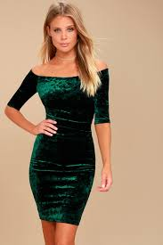 velvet dress forest green dress velvet dress bodycon dress