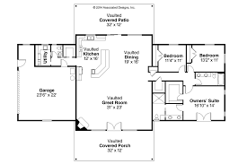 Floor Plans For Ranch Style Homes by Ranch House Plans Anacortes 30 936 Associated Designs