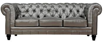 Used Leather Chesterfield Sofa by Mason 83