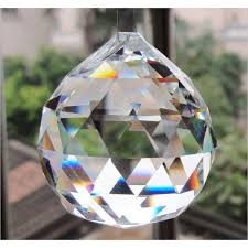 Crystal Home Decor Wholesale Crystal Prisms Collection Faceted Crystal Ball 40mm 1 5