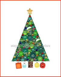 button art christmas tree jewelry christmas tree decor