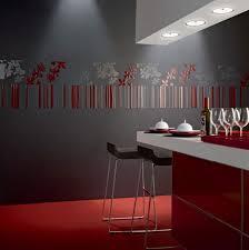kitchen design lebanon rode tegel vloer met terugkomend accent op de wand tegels rood