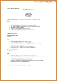 Firefighter Resume Templates Firefighter Resume Firefighter Resume Cover Letter Sample