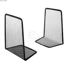 Mesh Desk Organizer 1 Pair Black Metal Mesh Desk Organizer Bookends Desktop Office