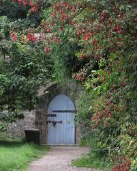 Pretty Garden Ideas Blue Wooden Door Of Walled Garden Frame Pretty Garden Door Design
