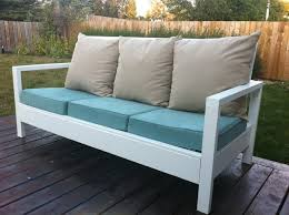 Ana White Simple White Outdoor Sofa DIY Projects - White outdoor sofa