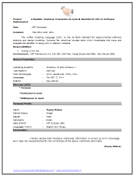 Sample Dot Net Resume For Experienced Fresher Resume Sample Page 2 Career Pinterest
