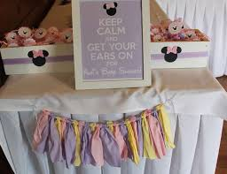 Baby Shower Pastel - baby minnie mouse baby shower
