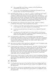 manufacturing agreement standard docular