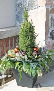 Christmas Decorations Outdoor Ideas - best 25 christmas planters ideas on pinterest outdoor christmas