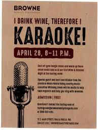 country music karaoke free karaoke night at browne family vineyards in walla walla great