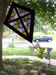 Kids Stained Glass Craft - stained glass