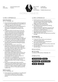 resume templates for experienced accountants near suffield senior accountant resume sle resume sles career help center