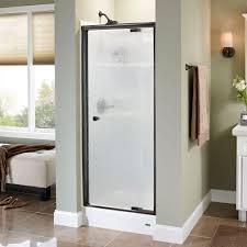 Shower Door Pivot Delta Mandara 31 In X 66 In Semi Frameless Pivot Shower Door In