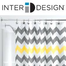 Yellow And Navy Shower Curtain Amazon Com Interdesign Chevron Shower Curtain 72 X 72 Inch Gray
