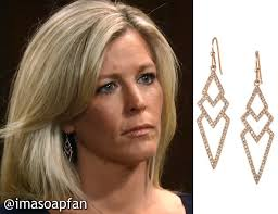 carlys haircut on general hospital show picture carly corinthos jacks s chevron drop earrings general hospital