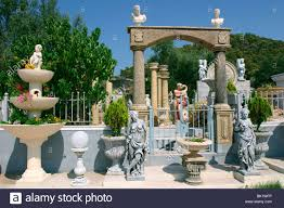 ornamental statues kefalonia greece stock photo royalty free