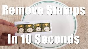 remove postage stamps from envelops in 10 seconds youtube