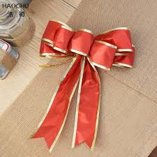 big christmas bows haochu 4pcs big ribbon bow gold edge christmas tree ornament