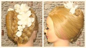 images of braids with french roll hairstyle french roll braided updo wedding hairstyle youtube