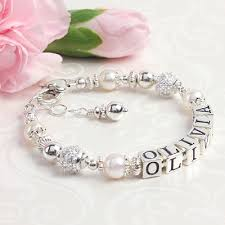children s bracelets graceful child baby bracelets with pearls and sterling silver cz
