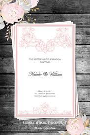 Easy Wedding Program Template Catholic Church Wedding Program Order Of Service Templates