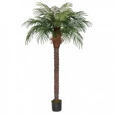 8 foot date palm tree with synthetic trunk potted p 150570