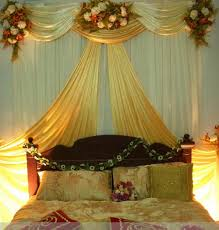 beautiful first night and flowers with bedroom decoration images
