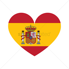 Spain Flags Spain Flag In Heart Shape Vector Image 1565302 Stockunlimited