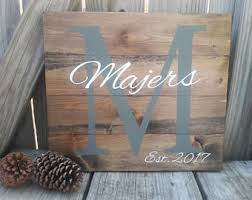 Personalized Wood Signs Home Decor Monogram Wood Sign Etsy