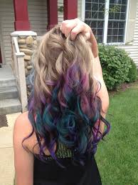 peacock inspired hair color lovely locks pinterest hair