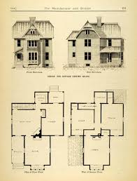 1884 print victorian cottage house architecture floor plans