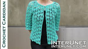 crochet pattern videos for beginners front tie lace cardigan crochet pattern part 2 of 2 youtube