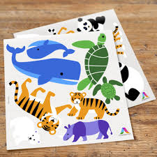 endangered animals peel stick kids wall decal cutouts art appeel endangered animals peel stick wall decal cutouts by olive kids