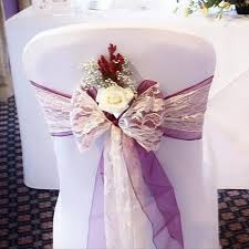 lace chair sashes lace sashes and bows esta s chair covers and photo booth hire in