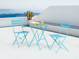 balcony set bistro set table and two chairs blue walter