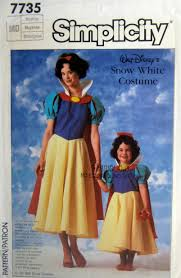 Simplicity Halloween Costumes Disney Snow White Costume Pattern Vintage Sewing Pattern