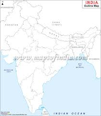 Maharashtra Blank Map by India Outline Map Big Gif