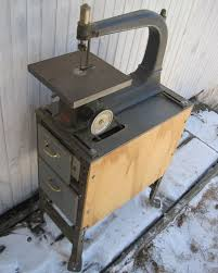 late 1930s sears dunlap scroll saw on a very nicely executed angle