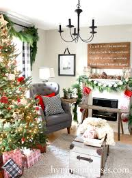 living room blue and pink christmas tree adding a mantel to a