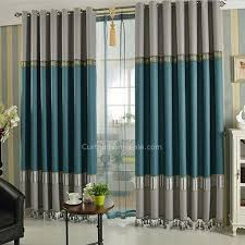 Gray Blackout Curtains Green And Gray Linen Cotton Blend Fabric Modern Blackout Curtain