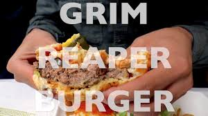 grim reaper burger challenge youtube