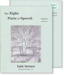grades 3 5 level 1 the eight parts of speech english worksheets set