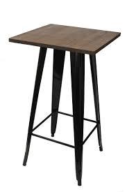 Tolix Bar Table Tolix Bar Table Timber Top 60x60x102cm Gloss Black Buy