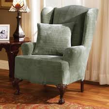 Small Club Chair Slipcover Buy Stretch Wing Chair Slipcover From Bed Bath U0026 Beyond