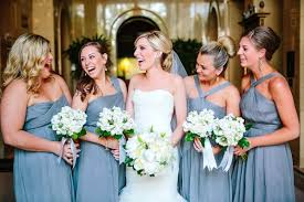 slate blue bridesmaid dresses vintage california wedding white bouquets weddings