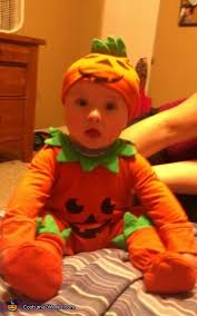 Infant Halloween Costumes Pumpkin Homemade Pumpkin Costume Babies